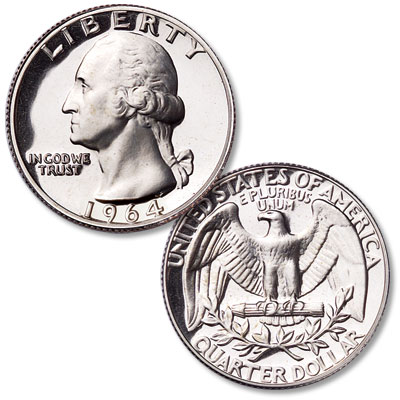 Image for 1964 Washington Silver Quarter from Littleton Coin Company