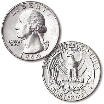 Image for 1964-D Washington Silver Quarter from Littleton Coin Company