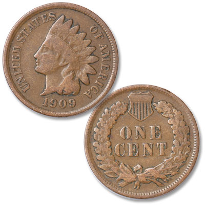 Image for 1909 Indian Head Cent, Variety 3, Bronze from Littleton Coin Company