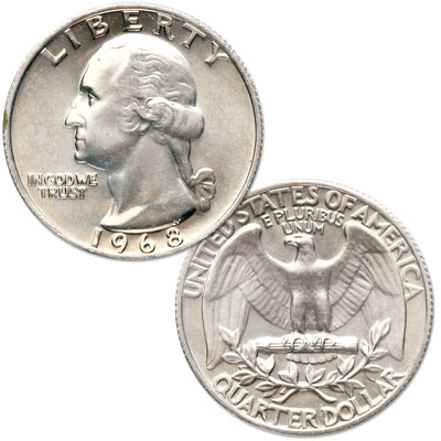 Image for 1968 Washington Quarter from Littleton Coin Company