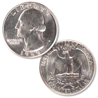 Image for 1969-D Washington Quarter from Littleton Coin Company
