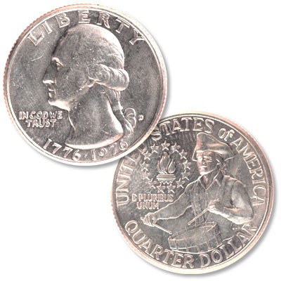 Image for 1976-D Washington Quarter Bicentennial Reverse from Littleton Coin Company