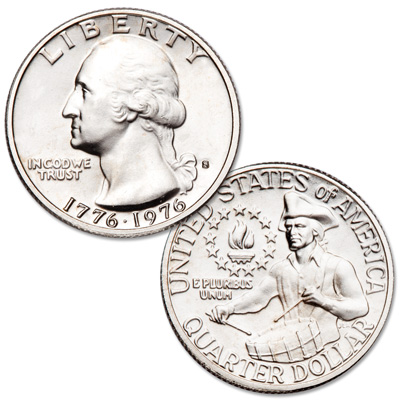Image for 1976-S Washington Quarter Bicentennial Reverse Silver Clad from Littleton Coin Company