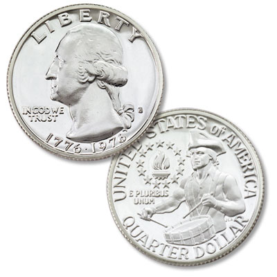Image for 1976-S Washington Quarter Bicentennial Reverse Silver Clad Proof from Littleton Coin Company