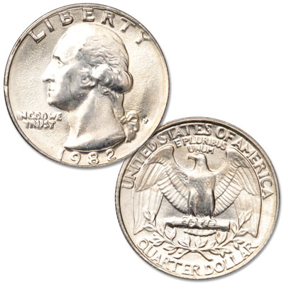 Image for 1982 Washington Quarter from Littleton Coin Company