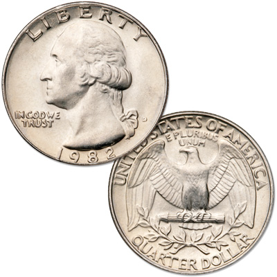 Image for 1982-D Washington Quarter from Littleton Coin Company