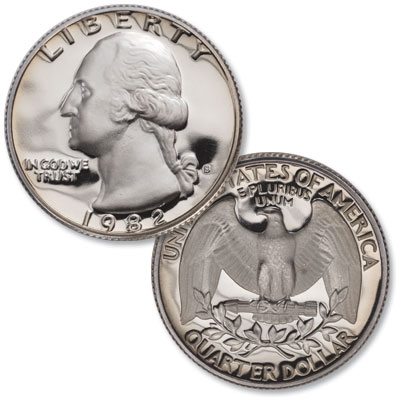 Image for 1982-S Washington Quarter from Littleton Coin Company