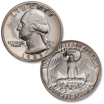 Image for 1985-S Washington Quarter from Littleton Coin Company