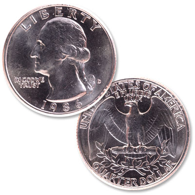 Image for 1986-D Washington Quarter from Littleton Coin Company