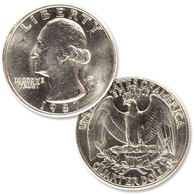 Image for 1987-D Washington Quarter from Littleton Coin Company