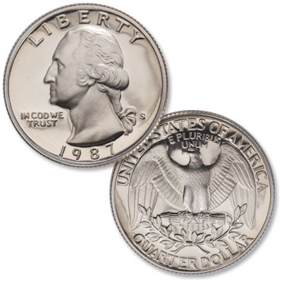 Image for 1987-S Washington Quarter from Littleton Coin Company