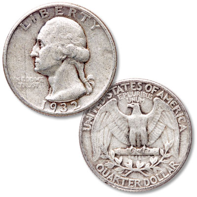 Image for 1932 Washington Silver Quarter from Littleton Coin Company