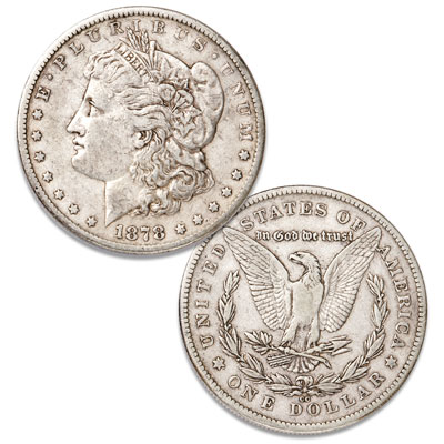 Image for 1878-CC Morgan Silver Dollar in Government Holder, Uncirculated, MS-60 from Littleton Coin Company