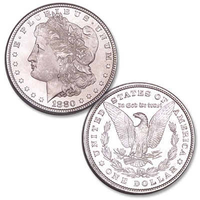 Image for 1880 Morgan Silver Dollar from Littleton Coin Company