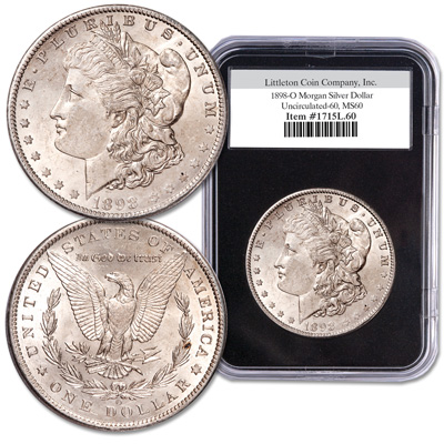 Image for 1898-O Morgan Silver Dollar from Littleton Coin Company