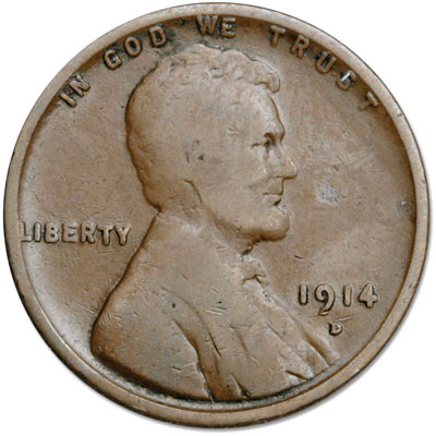 Image for 1914-D Lincoln Head Cent, Key Date from Littleton Coin Company