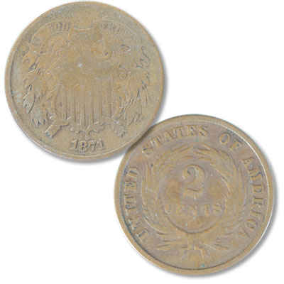 Image for 1871 Two-Cent Piece from Littleton Coin Company