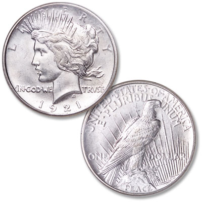 Image for 1921 Peace Dollar from Littleton Coin Company