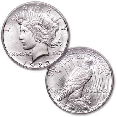 Image for 1922-D Peace Silver Dollar, Low Relief from Littleton Coin Company