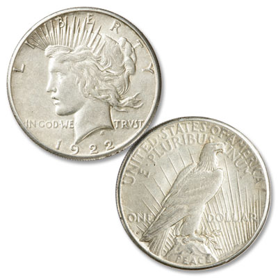 Image for 1922-S Peace Silver Dollar, Low Relief from Littleton Coin Company