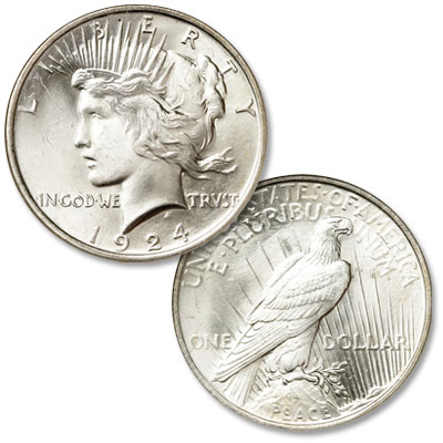Image for 1924 Peace Silver Dollar from Littleton Coin Company