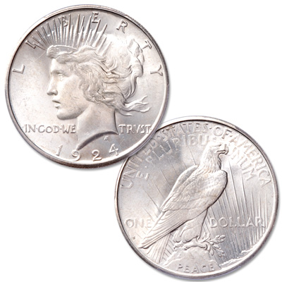 Image for 1924-S Peace Silver Dollar from Littleton Coin Company