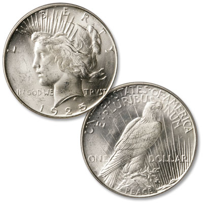 Image for 1925-S Peace Silver Dollar from Littleton Coin Company