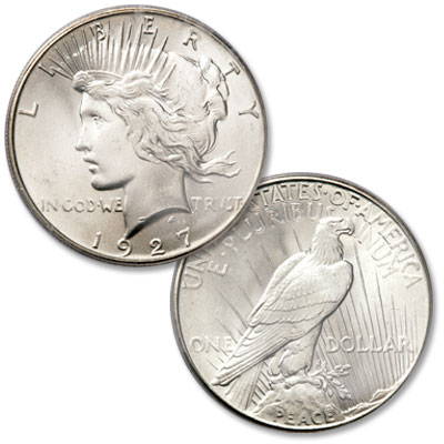 Image for 1927 Peace Silver Dollar from Littleton Coin Company
