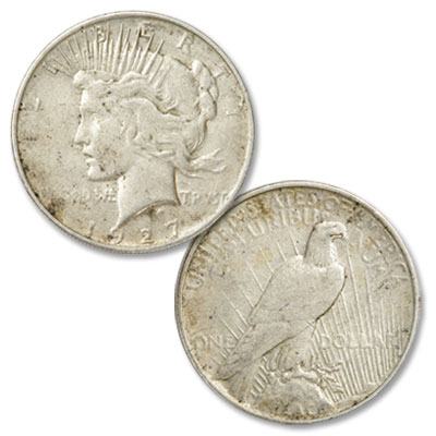 Image for 1927-D Peace Silver Dollar from Littleton Coin Company