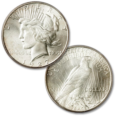 Image for 1927-S Peace Silver Dollar from Littleton Coin Company