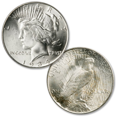 Image for 1934-S Peace Silver Dollar from Littleton Coin Company