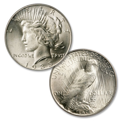 Image for 1935 Peace Silver Dollar from Littleton Coin Company