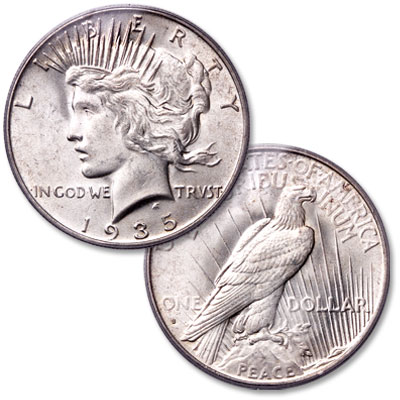 Image for 1935-S Peace Silver Dollar from Littleton Coin Company