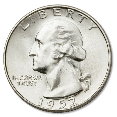 Image for 1952-S Washington Silver Quarter from Littleton Coin Company