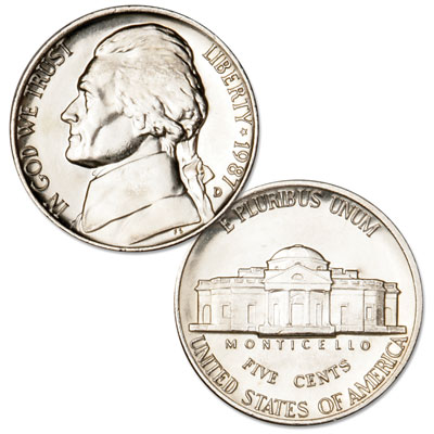 Image for 1987-D Jefferson Nickel from Littleton Coin Company