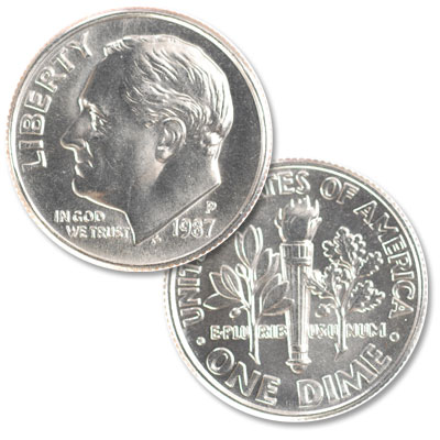 Image for 1987-P Roosevelt Dime from Littleton Coin Company