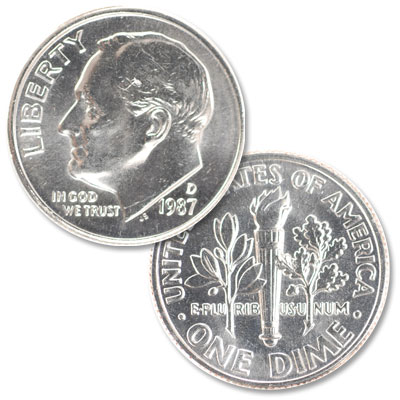 Image for 1987-D Roosevelt Dime from Littleton Coin Company