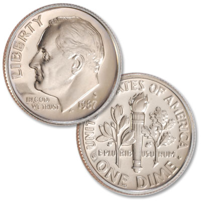 Image for 1987-S Roosevelt Dime from Littleton Coin Company