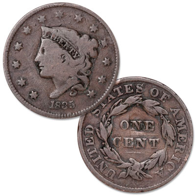 Image for 1835 Liberty Head Large Cent, Head of 1836 from Littleton Coin Company