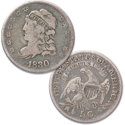 Image for 1830 Capped Bust Half Dime from Littleton Coin Company