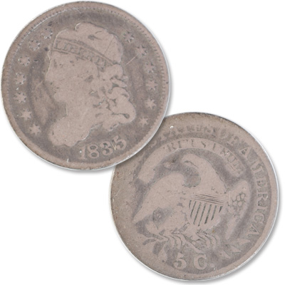 Image for 1835 Capped Bust Silver Half Dime, Large Date & Large 5¢ from Littleton Coin Company