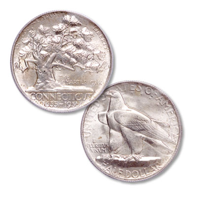 Image for 1935 Connecticut Tercentenary Silver Half Dollar from Littleton Coin Company