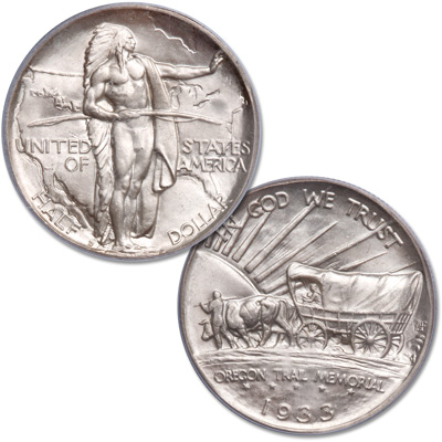 Image for 1933-D Oregon Trail Commemorative Half Dollar from Littleton Coin Company
