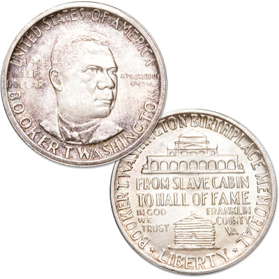 Image for 1946 Booker T. Washington Memorial Silver Half Dollar from Littleton Coin Company