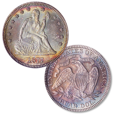 Image for 1877 Liberty Seated Quarter from Littleton Coin Company