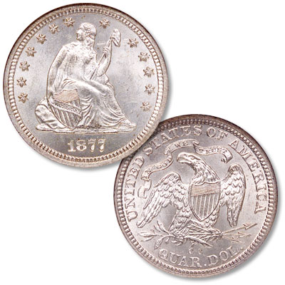 Image for 1877-CC Liberty Seated Silver Quarter from Littleton Coin Company