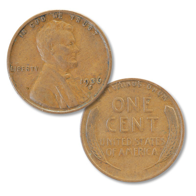 Image for 1936-S Lincoln Head Cent from Littleton Coin Company