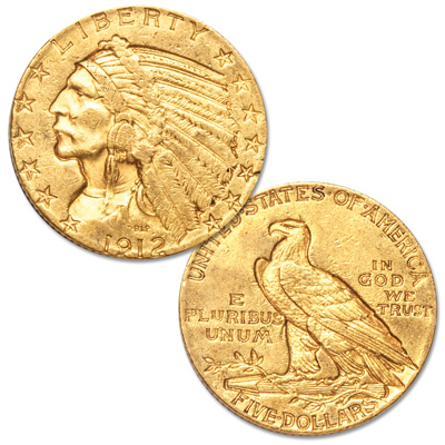 Image for 1912 Indian Head $5 Gold from Littleton Coin Company