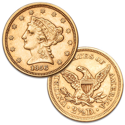 Image for 1856 Gold $2.50 Liberty Head Quarter Eagle from Littleton Coin Company