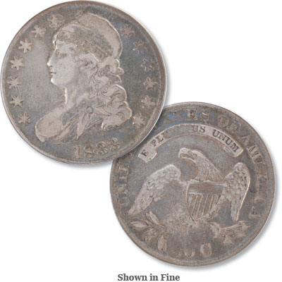 Image for 1833 Capped Bust Silver Half Dollar, Lettered Edge from Littleton Coin Company